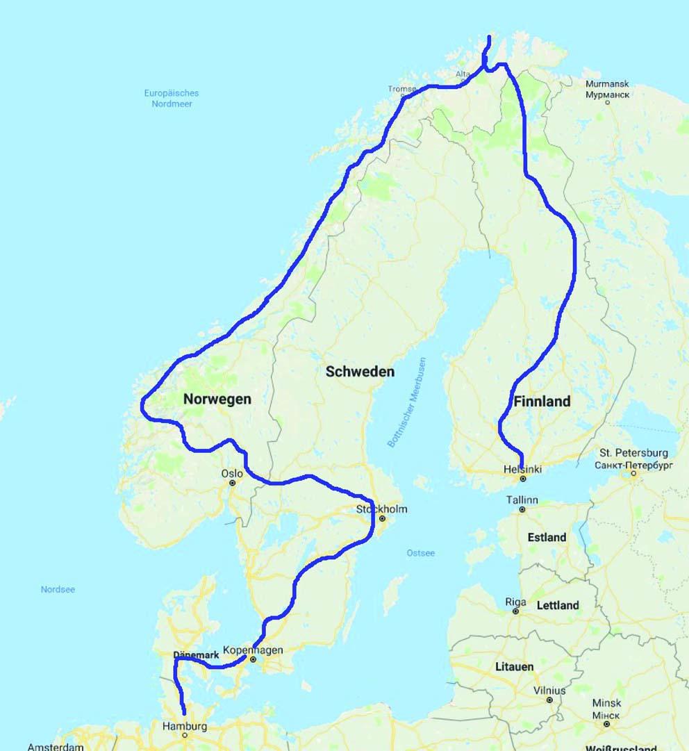 Wohnmobiltour durch Finnland, Norwegen, Schweden und Dänemark