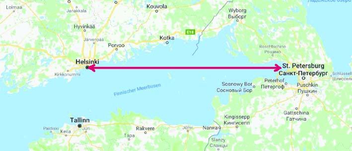 Schiffreise von Helsinki nach St. Petersburg - visumfrei bei max. 3 Tagen Aufenthalt in St. Petersburg