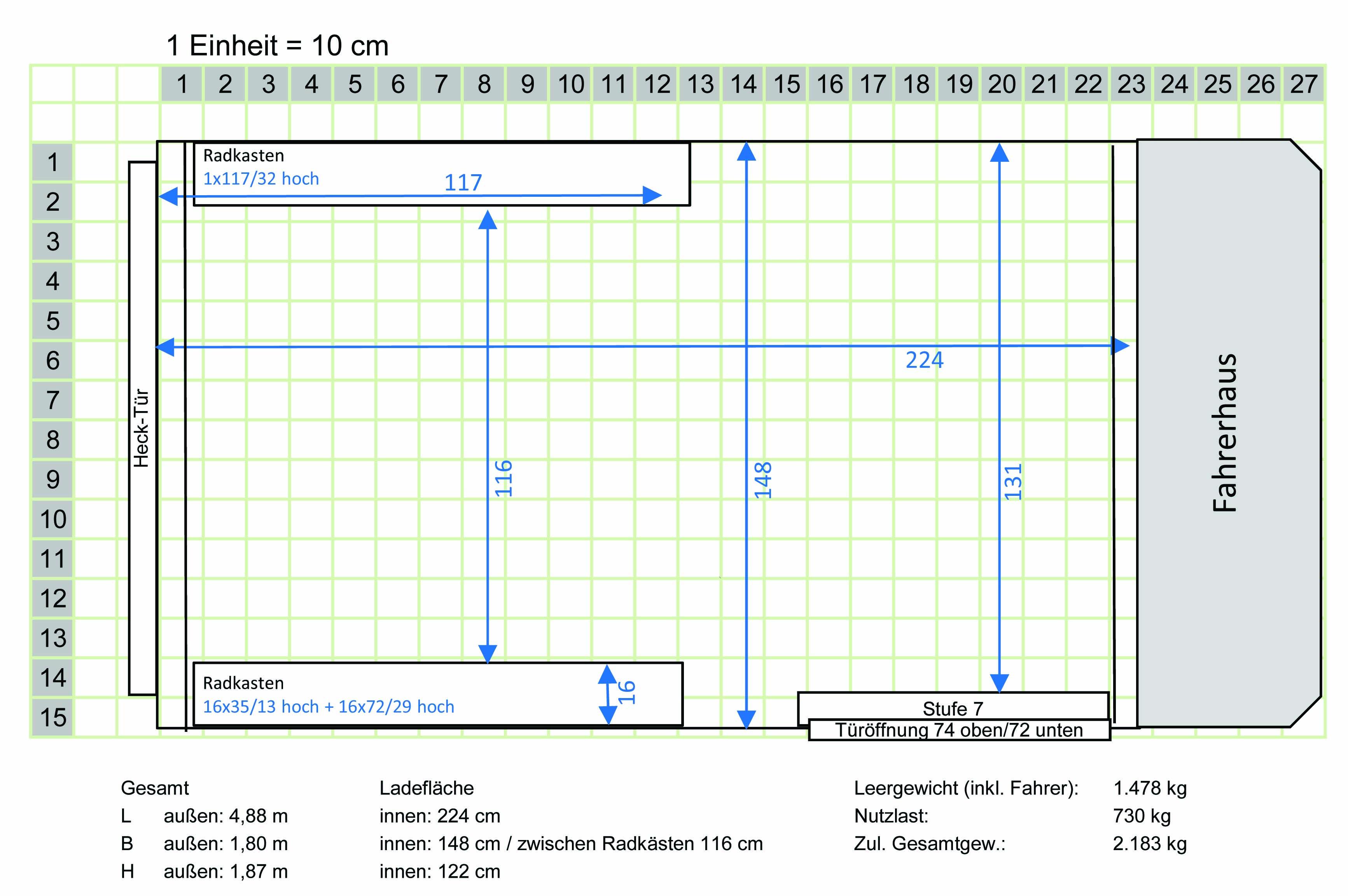 Planung Des Ausbau Eines Wohnmobils Mit Grundriss Für Die Möbel
