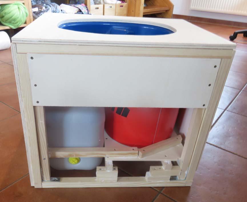 Konstruktion der WC-Box