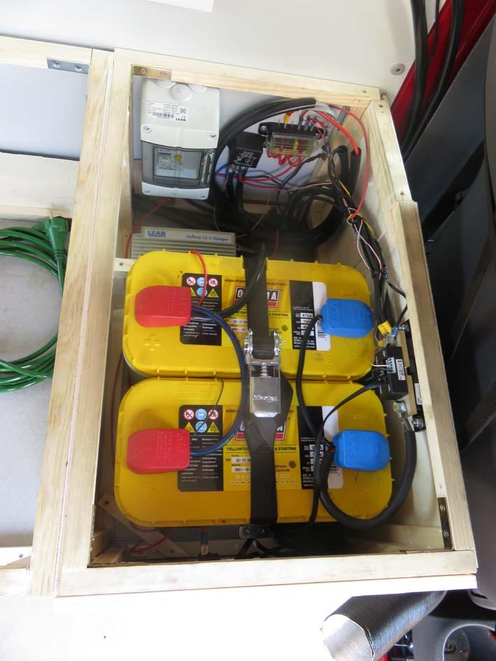Elektrobox mit allen Verkabelungen