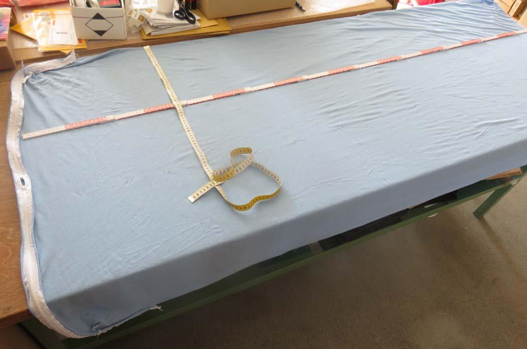Anpassung der Größe der Matratze