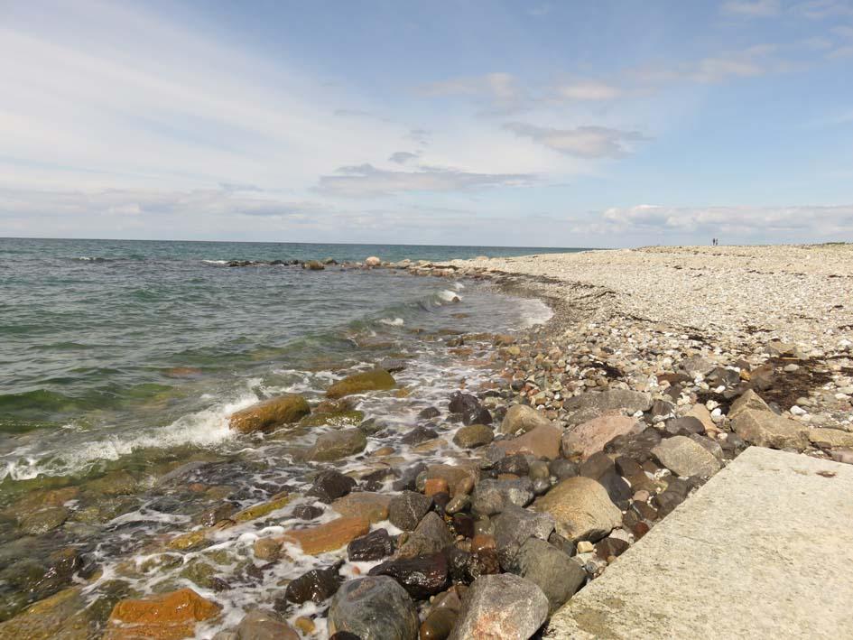 Steiniger Strand auf Fehmarn