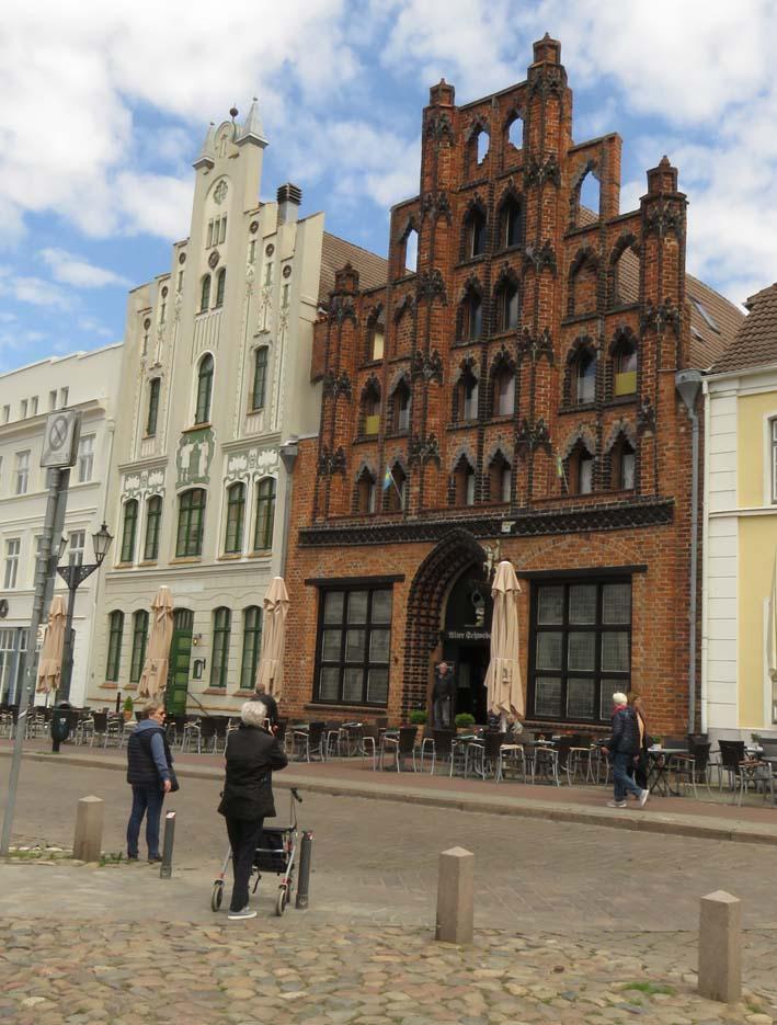 Häuser am Marktplatz in Wismar