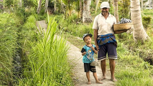 Freundliche Menschen in Indonesien