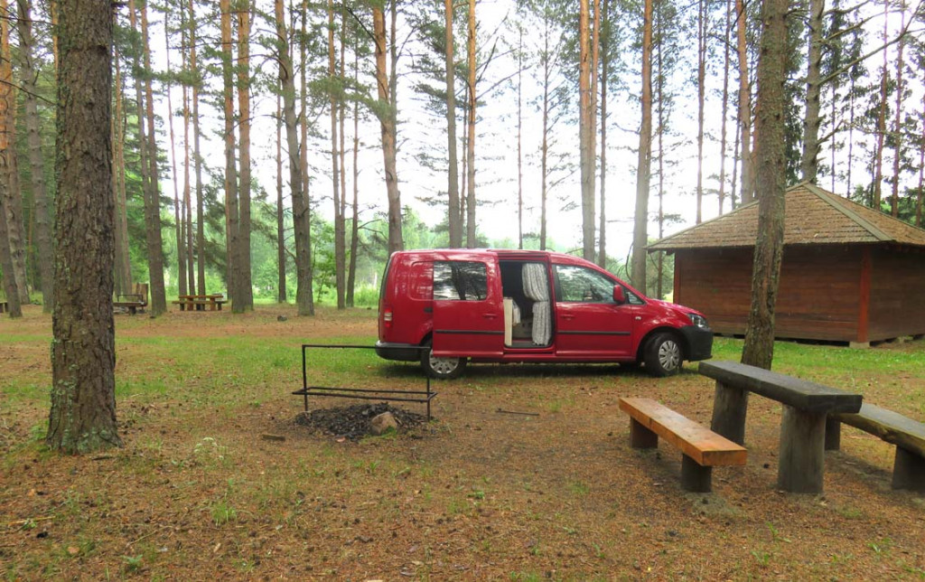 Campingplatz im Aukštaitija Nationalpark