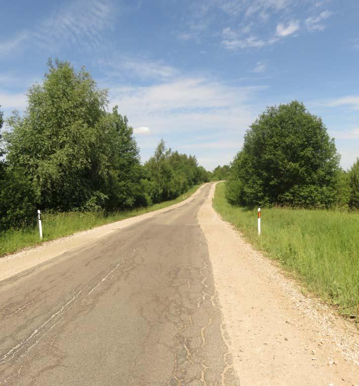 Landstraße in Litauen