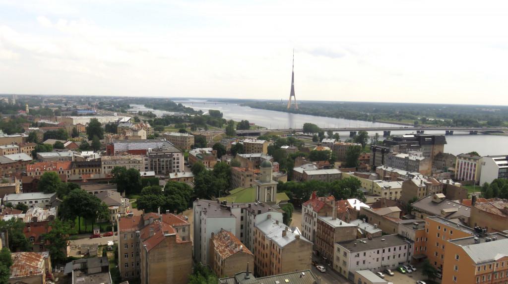 Blick von oben auf Riga