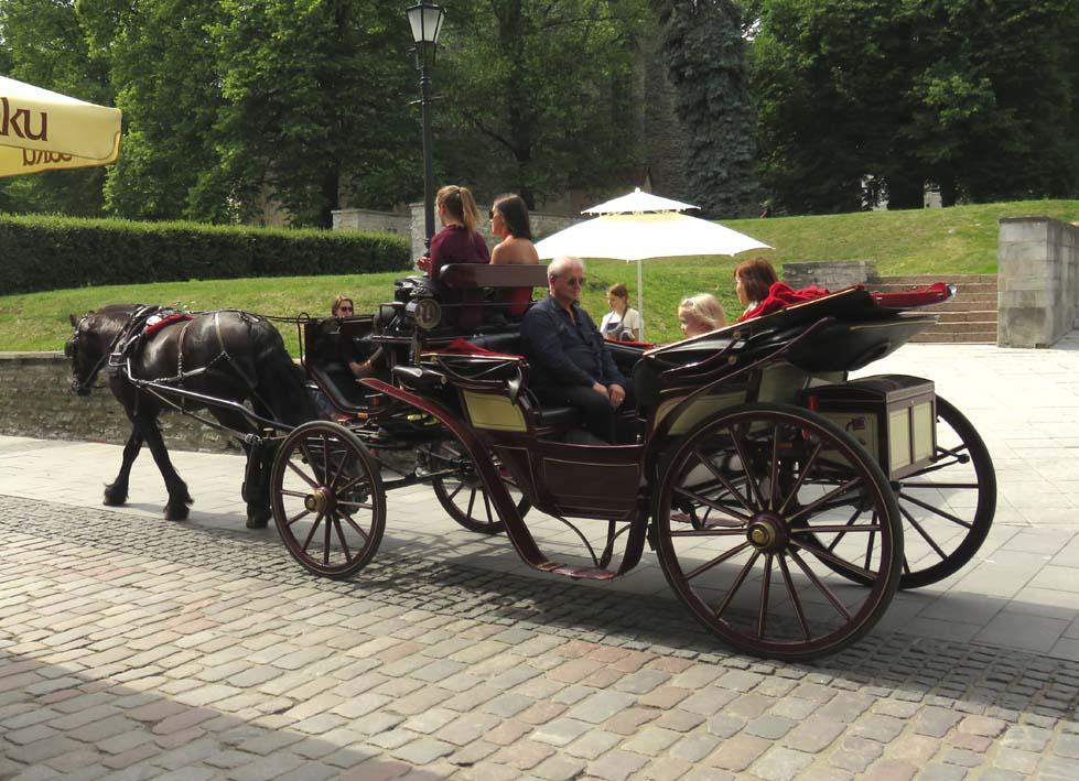Pferdekutsche in Tallinn