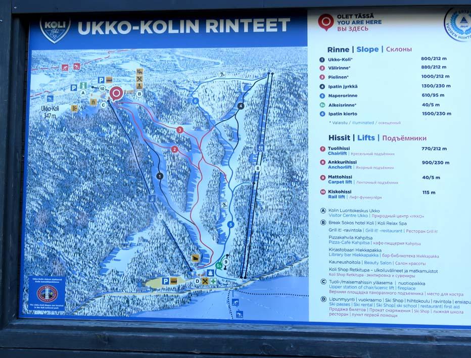 Karte Skigebiet Ukko-Koli