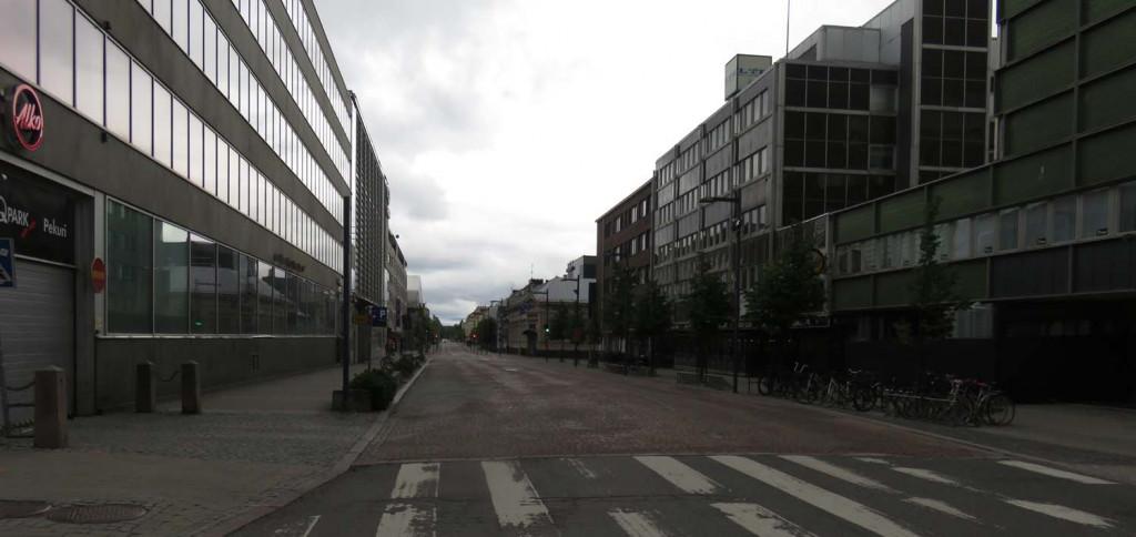 leere Straßen in Oulu