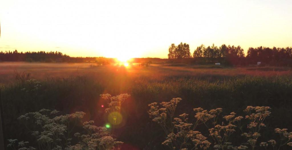 Mitternachtssonne in Rovaniemi