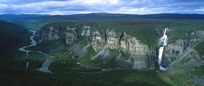Ausblick auf Reisaelva und Mollisfossen